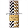 Lo PAPIE Paper Straw Black Gold 20pc