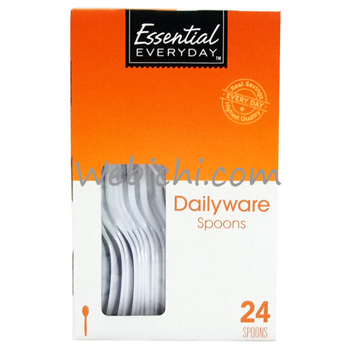 Essential Everyday ESSENTIAL EVERYDAY Dailyware Plastic Spoons