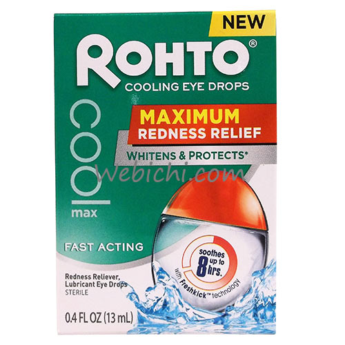 Mentholatum ROHTO Cool Max / Maximum Redness Relief Eye Drops