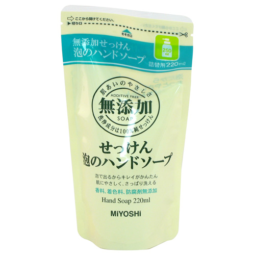 Miyoshi MUTENKA Foaming Hand Soap Non-additive Refill