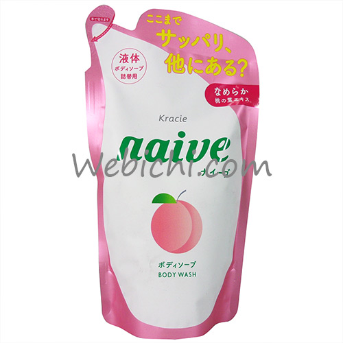 Kracie NAIVE Body Soap Peach Refill