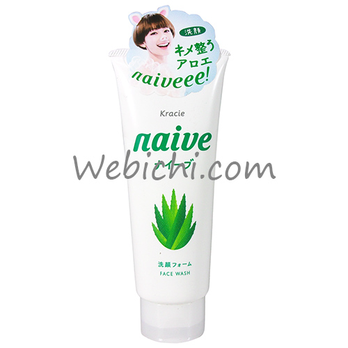Kracie NAIVE Facial Cleansing Foam Aloe