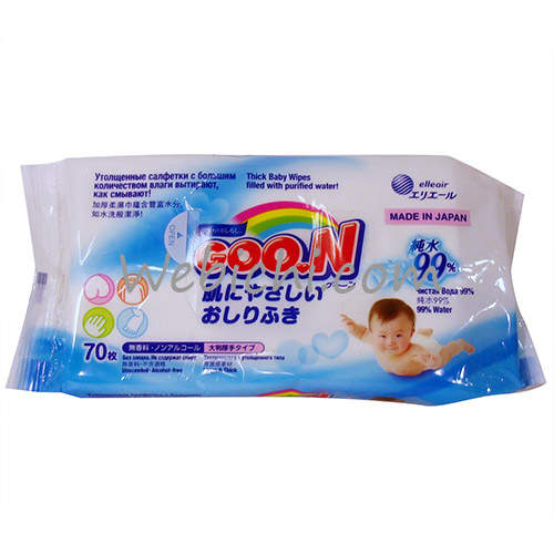 Elleair GOO.N Baby Wipes 70 Sheets