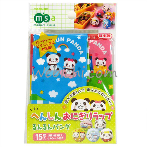 Torune MAMAS ASSIST Rice Ball Wrappers W / Stickers Panda