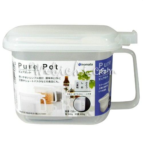 Inomata PURE POT 1191 Canister White 720ml