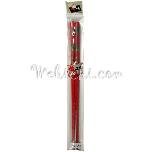 Pearl PEARL Lacquered Chopsticks Red W /  Plant