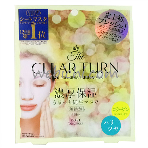 Kose CLEAR TURN Super Premium Fresh Mask Firm & Glowing Skin